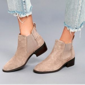 Steve Madden Taupe Suede Ankle Booties size 7